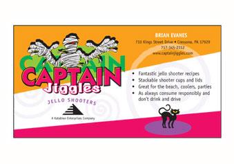 Captain Jiggles – Business Card